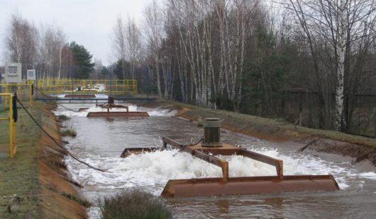 Behandlung von Grubenwasser (CO<sub>2</sub>-Stripping)
